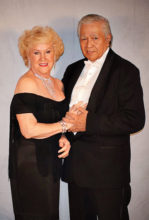 """Ken and Lylla Alejandro entering the San Tan Ballroom for the """"25th Anniversary Cotillion Black and White Ball"""" held on January 9, 2019. Ken and Lylla always go out of their way to select attire that embraces the dance theme. They have been longtime members of the club, and their support has been essential to our success at the new Cottonwood venue."""