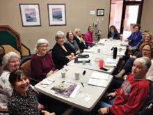 Left to right: Vicki M., Rosemary K., Jean M., Kathy F., Karen M., Diana E., Julie A., Starla A., Pat Mc., Kathryn P., Pam C., Francisca S., Linda B.