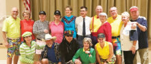 Top row (left to right): Bruce and Lynn Storey, Harry and Liz Pritchard, Rick and Pauline Boyd, Fred and Linda Smith, John Kolb, Dale and Jenn Schmitz; Bottom row (left to right): Carol and Dick Schmidt (2nd place), Jim Ray and Mary Dyrseth (1st place), Becky Kolb