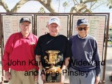 Left to right: John Kane, Jim Wideward and Arnie Pinsley