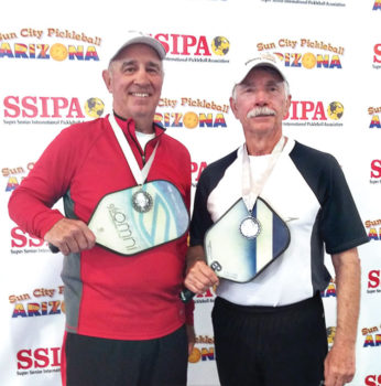 Tom Dawson, IronOaks, and Steve Smitham, IronOaks, won the Silver medal in the 4.5 70+ Men's Doubles at the Sun City Marinette Center Tournament.