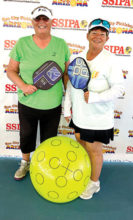 Janice Golden, Sun Lakes, and Jamie Noblit, Sun Lakes, won Silver medals in the 4.5 65+ Women's Doubles at the Sun City Marinette SSIPA tournament.
