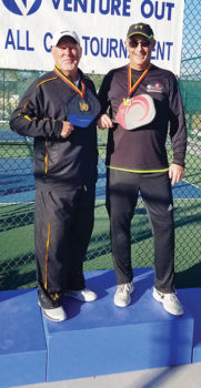 Jerry Strom and Keith Ori of Cottonwood placed second in the 3.5 Men's Doubles Tournament at the 19th Annual Venture Out Pickleball Tournament.