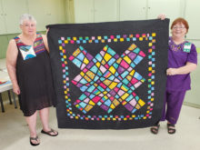 Pictured (left to right) are Barbara West and Stephanie McCormick. Look at Barbara's creation. She has offered to teach it in the Fall of 2019.
