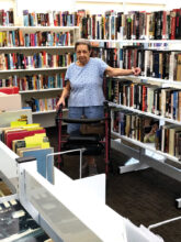 Lucille Sgro, Cottonwood resident, looking for a book