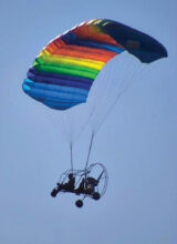 Sun Lakes resident Gary Vacin will explain why flying a powered parachute like the one pictured is the safest form of flying there is, during a presentation to the Sun Lakes Aero Club gathering on Monday, Nov. 18, at the Sun Lakes Country Club. The public is invited to attend.