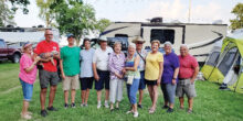 Pictured are Roadrunners RV Club members at the Oshkosh, WI rally. The air show was from July 22 to July 28, 2019.