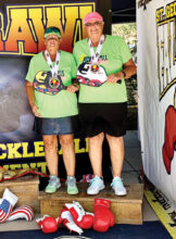 Janice Golden and Jamie Noblit, both from Cottonwood, won the Silver Medal in the 4.5 65 plus, ladies doubles at the Fall Brawl in St. George, Utah.