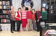 Library Board of Directors: Myrna Brower, chairperson; Doreen Taylor, head librarian; Pat Weitzel, assistant librarian; Gen Welch, trainer; Marilyn Wiley, social chairman; Mary Droke, sunshine lady and treasurer; Pat Doucet, board director; Bette Hargrave, publicist. Not pictured is Myrna Brower.