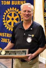 Peter Meade, Rotarian of the Month