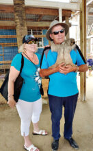Jan and Jerry Vickery at Monkey and Sloth Hang Out in Roatan