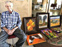 Bob Kwait, pictured here at an Art Show in Oakwood, is one of OAL's longtime members.