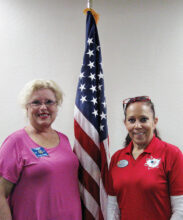 Arizona VFW District Senior Vice President Lynne Pierre and President Melissa Martin