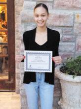 Scholarship recipient Aisha Beck