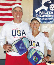 Steve Smitham of IronOaks partnered with Carol Hammerle of Green Valley, Arizona, to win the Silver Medal in the 4.5+ 60+ Mixed Doubles at the Battle of the Branches held in Casa Grande.