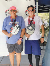 Jamie Noblit (Cottonwood) and Ron Ferrer won the silver medal in the Mixed Doubles 65-69 Division at the Huntsman Senior Games.