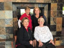 Executive Board for 2020. Back row: Sandy Krediet (President), Mary Medved (Vice-President); bottom row: Barb Johnston (Secretary), Rachael Enroe (Treasurer)