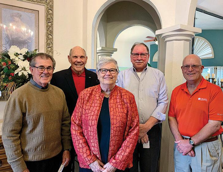2020 Crystal Award recipients (left to right): Wayne Mangold, David Florence, Karen Jorgensen, Doug Bishop, Joe Downs, Steve Howell
