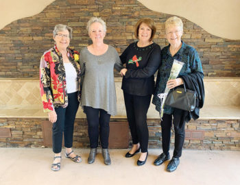 2020 PVLGA Board (left to right): Elaine Isaacson, treasurer; Val Verbeck, vice president; Julie Curran, president; Diana Ridd, secretary