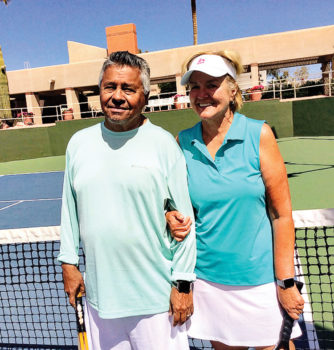Jerzon and Kim Vargas started with the free classes, and now both are dedicated players.