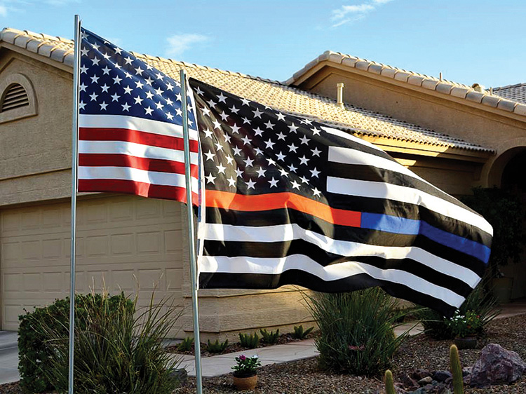 First Responder flag (photo by Brian Curry)