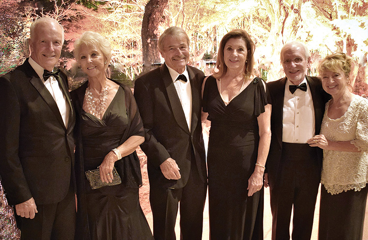 Pictured (left to right) are Robert (Bob) and Joanne Butt, Dick and Nancy Lathrop, and Emmet Babler and Carmela Hopkins entering the Dancing Leaves of Autumn Gala held on Nov. 9, 2019, at the Cottonwood ballroom. This group had a great time together that night. Emmett, Carmela, Bob, and Joanne are longtime members. Dick and Nancy were first-time guests. We want to thank our members for bringing new folks to the dances. It is great to see new couples discovering the Cotillion's unique events. The reception, dinner, music, and dancing combine to create a special opportunity for fun and fellowship. We are looking forward to another great season this year.