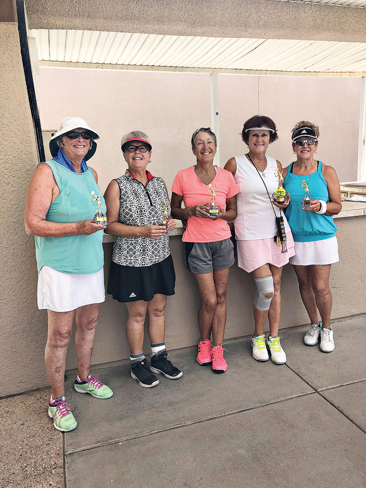 Left to right: Sandra LaBute Discoe (2nd place), Kathy Moliter (3rd place), Cindy McRoberts (1st place), and Karin Herrmann and Susie Dunn (tied for 4th place)