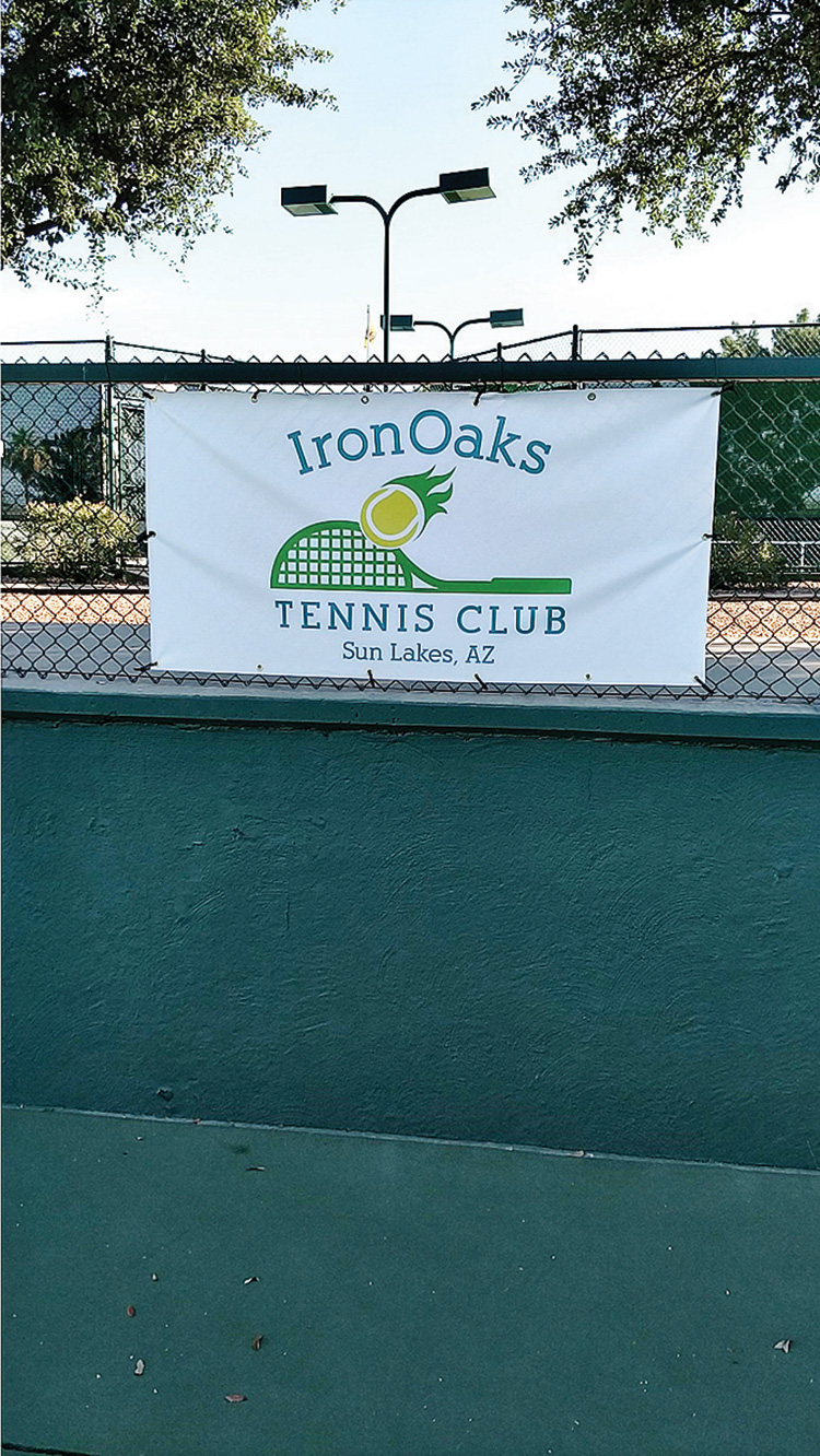 These two new banners were created from anonymous individual donor tennis members from the IronOaks Tennis Club and are now placed on stadium court 1 and court 3 at the IronOaks tennis facility.