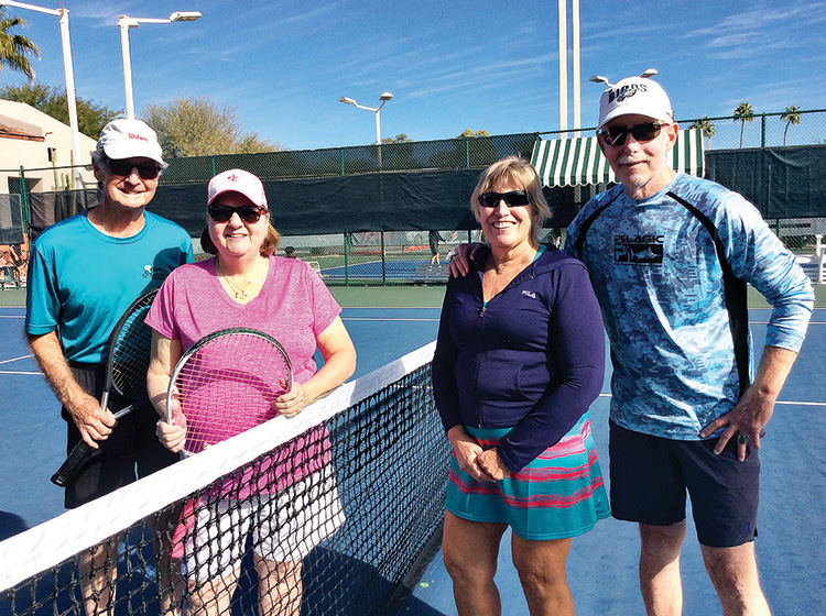 A review of activities of CTC includes women's doubles, men's doubles, and, of course, food.