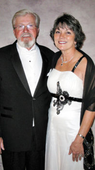 "Pictured are Rich Pavlak and Betty Lauer entering the ""Sonoran Serenade Black & White Ball"" on Jan. 9, 2016. We look forward to seeing them soon as we all emerge from our confinement to enjoy the upcoming season. This ball was memorable as it featured a 19-piece big band style orchestra with vocals from Kathy Bradford and Cornelius Bishop. ""Mack the Knife"" was an especially great song among many during the three-set performance. The dinner, music, and dancing combined to create a special opportunity for fun and fellowship. We are looking forward to another great season."