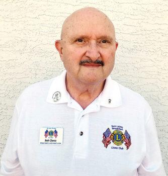 Bob Glantz, new president of the Sun Lakes Breakfast Lions Club