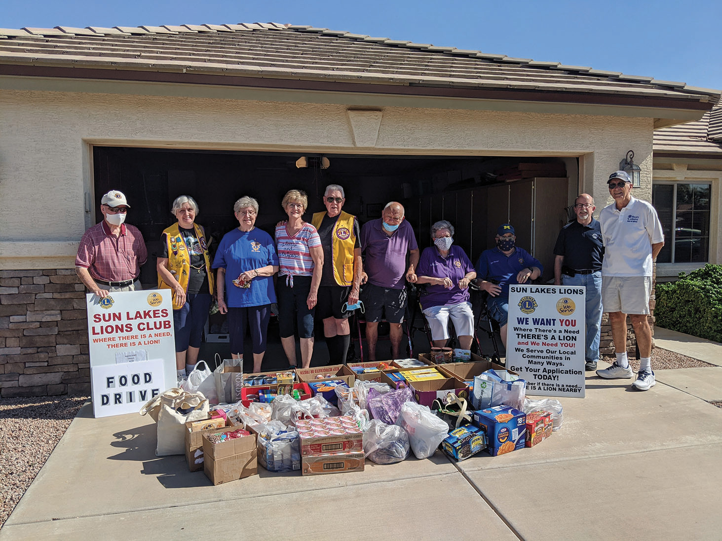 The food we collected for the Chandler Food Bank (AZCEND)