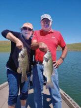 Sue Green and Gregg Lorimor fishing