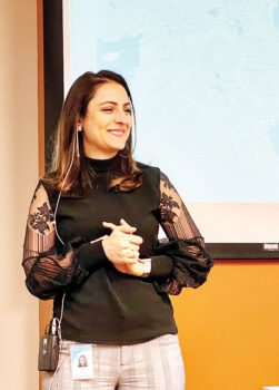 Sara Salim shares her story of coming to the U.S. from Iraq with a New Adventures in Learning class.
