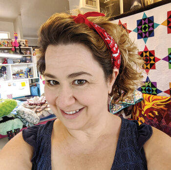 Heidi Pridemore from the Whimsical Workshop presents to Desert Threads Quilters.