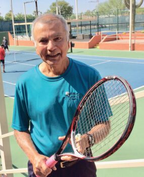 2020-21 Cottonwood Tennis Club President Laks Jagnandan led the club in handling the situation caused by COVID-19.