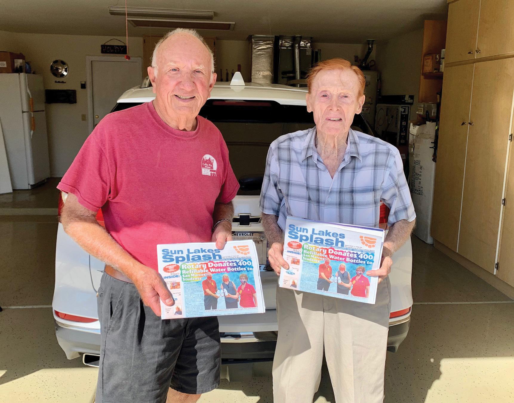 Dan Robins and Jack Holder delivering the Sun Lakes Splash.