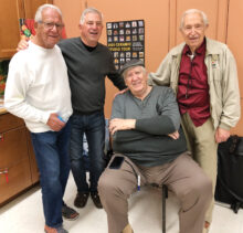 DAC artists and friends (left to right): Sid, Chuck, Maynard, and Joe