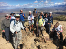 A flashback photo from our club at the top of Wasson Peak near Tucson