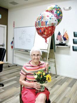 Betty Sanders celebrates her 94th birthday.