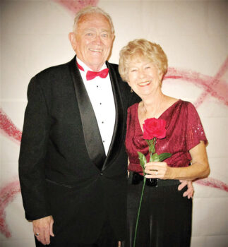 Pictured are Jim and Gayle Alvar entering the ballroom for the Feb. 6, 2016, 'All You Need Is Love' Valentine-themed dinner dance. This photo reminds us of time we all miss dearly as each day passes. We are looking forward to re-establishing such gatherings of fun and fellowship with all of our club members and guests.
