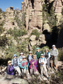 A flashback photo from our club hike at Chiricahua National Monument in Southeastern Arizona