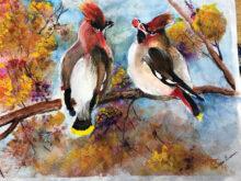 Mixed media painting by DAC member Barbara Brown