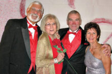 "Pictured (left to right) are Robert and Doris Rouleau and Phil and Dee Hollevoet entering the ballroom for the Feb. 6, 2015, ""All You Need Is Love"" Valentine-themed dinner dance. This photo reminds us of a time we all miss dearly as each day passes. We are looking forward to re-establishing such gatherings of fun and fellowship with all of our club members and guests."
