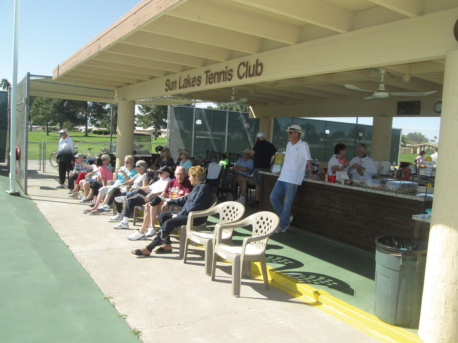 The Tennis Club meeting in March of 2020 before closures