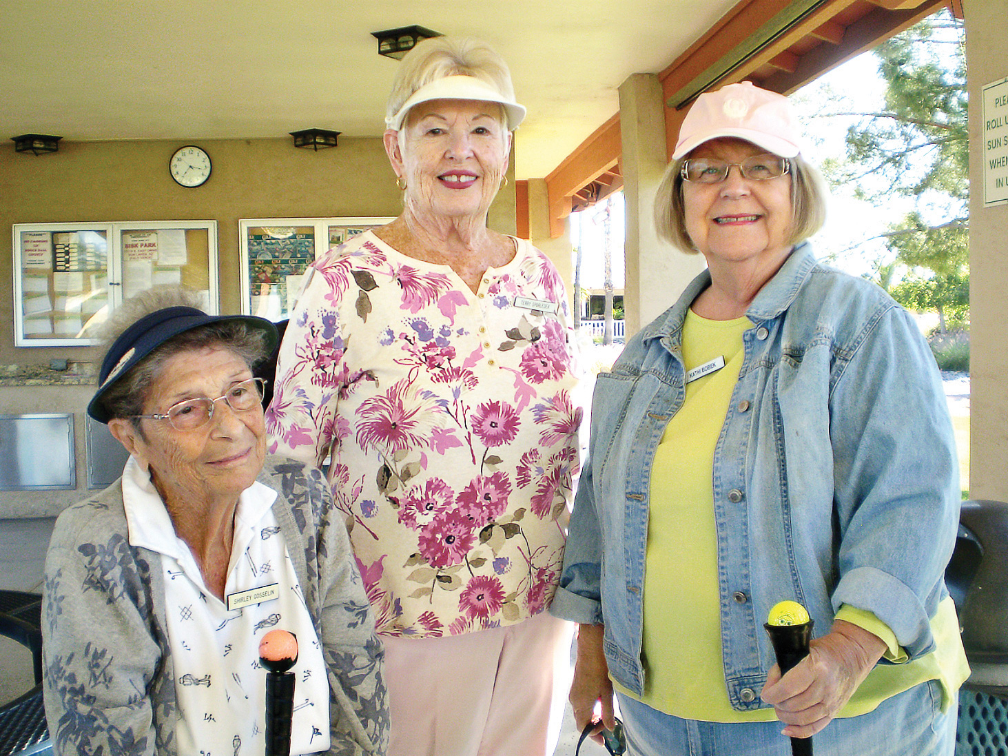 Pictured (left to right): Shirley Goselin, Terry Sporleder, and Kathi Bobek