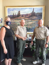 Pictured are NWC Executive Director Sheryl Keeme, Sun Lakes Ranger Captain Ron Burchett, and Sun Lakes Ranger Executive Officer Scott Murdock.