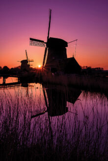 Windmill at Twilight by Phyllis Peterson