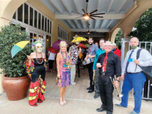 Cheryl Thurston leading a Second Line Parade in downtown Chandler in November