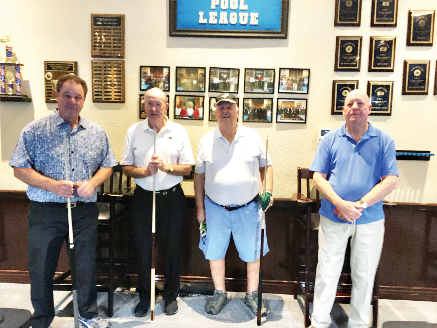 Left to right: George Kothe, Jim Boyes, Mark Bernier, and Don Lewis